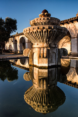 Fountain, Mission San Miguel.