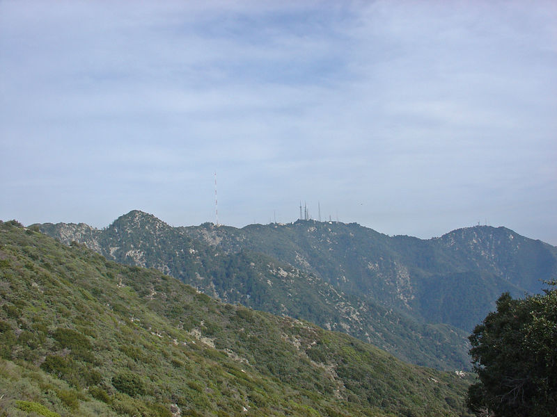 Mt. Wilson and Mt. Harvard from the summit of Mt. Lowe.