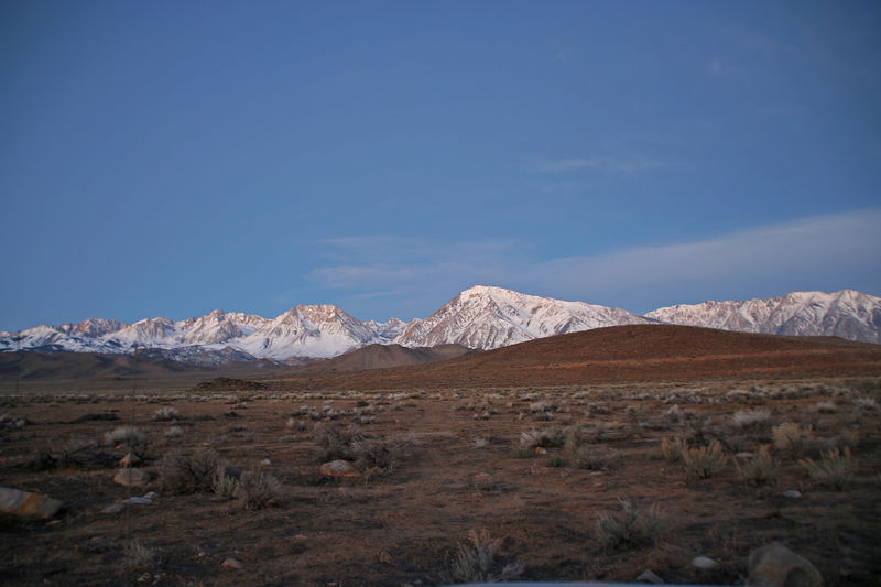 Early morning view of the Sierra above Bishop.