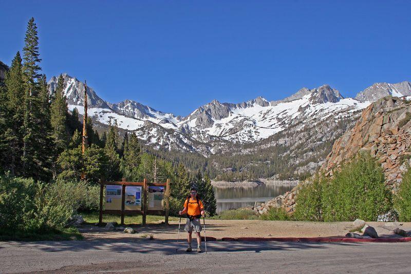 Len Lochmiller at the Bishop Pass Trailhead.