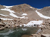 Tarn on the way up Cirque Peak.