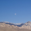 Moon over the Owens Peak Wilderness.