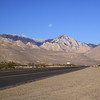 Moonset from Highway 395.
