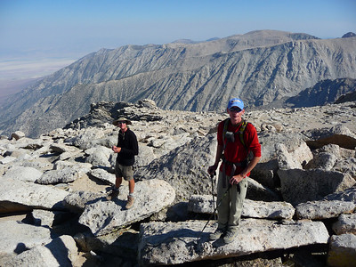 Jim and Mike on the summit of Lone Pine Peak.