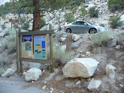 Back at the trailhead.  6:53pm. About eight hours for the round trip.