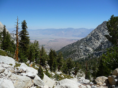 Looking back to the Owens Valley.