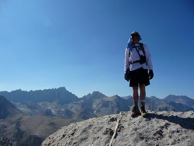 Lone Pine Peak summit portrait.  Photo taken by Mike Mellin.