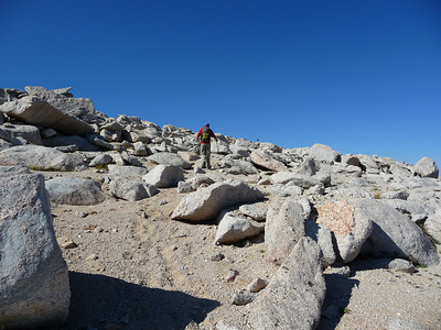 Mike heading up to the summit of Lone Pine Peak.