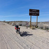 Stopping for a short break at the entrance to Redrock Canyon.<br /> <br /> I rode the Redrock/Inyokern Road.