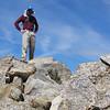 Butterbredt Peak summit self-portrait.