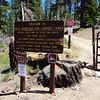 Bald Mountain Lookout gate.