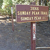 At the Sunday Peak Trailhead.<br /> <br /> 2:01pm.