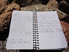 Sorrell Peak summit register entry.
