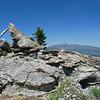 Granite Knob summit cairn.