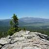 Granite Knob summit view.<br /> <br /> Olancha Peak and Monache Meadows.