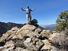 Peak 7125 summit self-portrait.