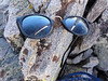 """Old School glasses I found on one of the false summits of Piute Peak.<br /> <br /> False only because someone made the """"summit"""" one of the lower outcrops of rock."""