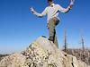 Piute Peak summit self-portrait.<br /> <br /> Chopped off the top of my head.