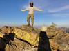 Piute Lookout summit self-portrait.<br /> <br /> Hey Kurt, I've got a helmet on!