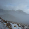 Near the Owens Peak Trailhead, the clouds parted for short periods of time, making for some interesting photos.