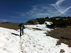 A little bit of snow on the way to the summit of Mt. Baldy.