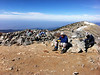 People on the summit of Mt. Baldy.<br /> <br /> The Swiss gentleman says there's nothing hard about Whitney.