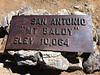 Mt. Baldy summit plaque.