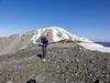 Shin on the summit of Mt. Harwood.