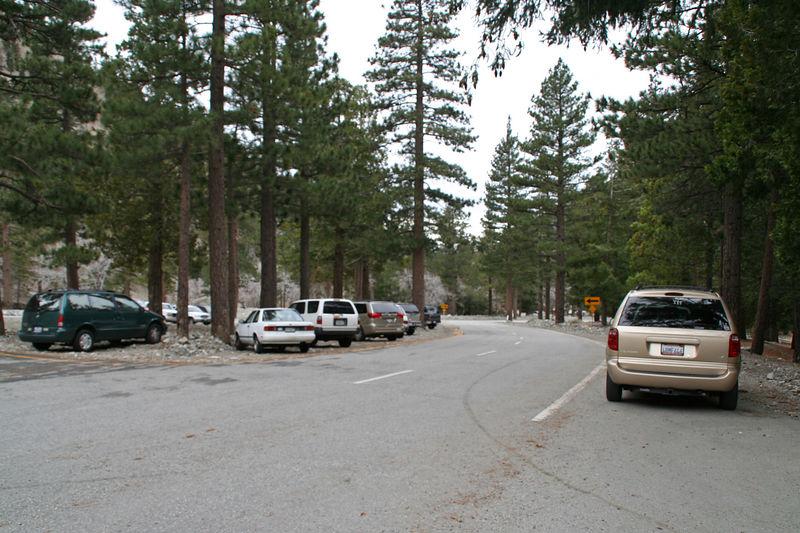 Manker Flats parking area.