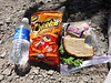 Meal #3.<br /> <br /> Cheetos and sandwich courtesy of ABC. Thanks!