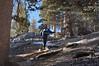 Shin on the Ski Hut Trail.