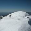 Shin climbing up to Mt. Baldy.