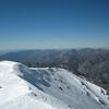 Cornice along the ridge to Iron Mountain.