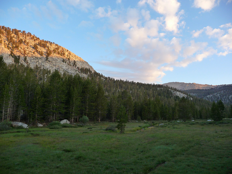 """Lots of meadows along the """"old"""" trail."""