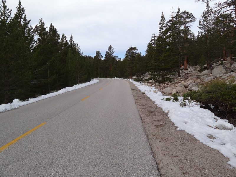 This is what the Old Cottonwood Lakes Trailhead looks like as you're wizzing your way towards the new trailhead.