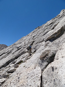 The terrain is a little easier if you move off of the ridge in spots.