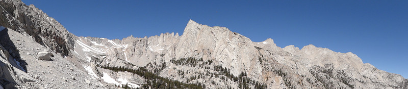 Panorama from the slopes of Candlelight Peak.