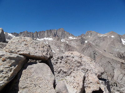 Candlelight Peak summit view.  Mt. Whitney and Russell.