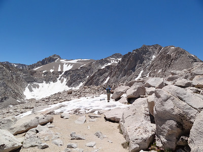 Rick heading for the summit of Candlelight Peak.
