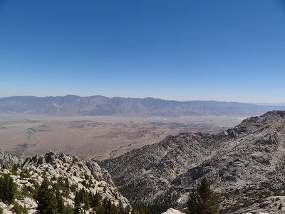 The Owens Valley from the slopes of Candlelight Peak.