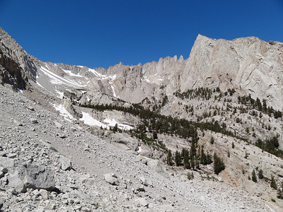 The Whitney Zone from the slopes of Candlelight Peak.
