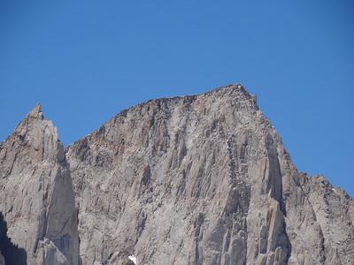 Candlelight Peak summit view.  Keeler Needle and Mt. Whitney.