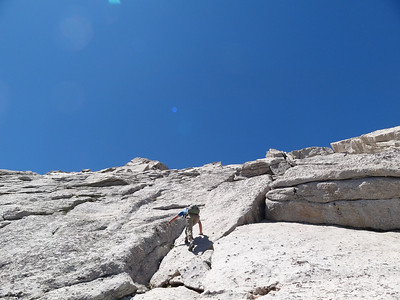Rick traversing to another nice looking crack.