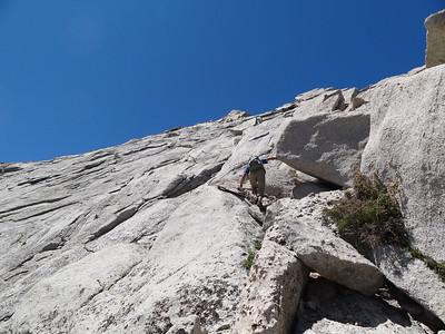 Rick on the NE Ridge.