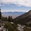 Looking down to the Owens Valley.