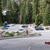 A fairly empty overflow parking lot at Whitney Portal.