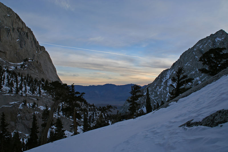 Dawn from the slopes above Mirror Lake.