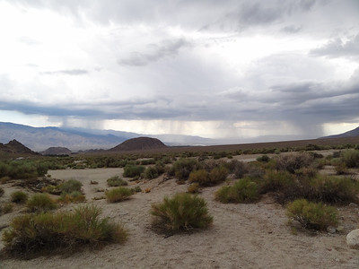 Storm cells over the Owens Valley.