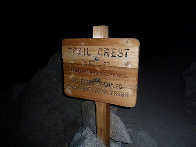 At Trail Crest at 10:51pm.