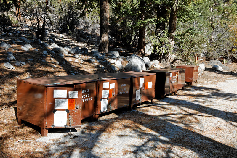 Bear boxes for the new campground.